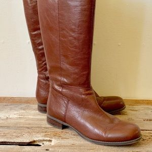 Nine West brown leather knee high boots US size 9